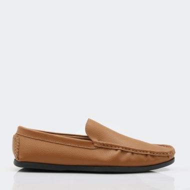حذاء رسمي جلد باللون الجملي فاخر