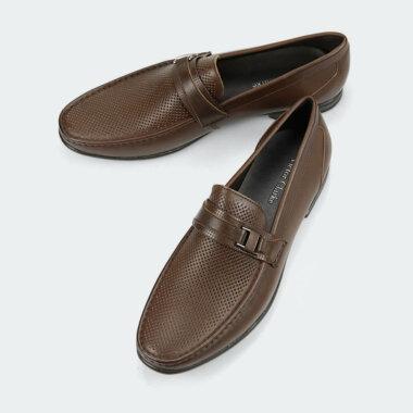 حذاء victor clarke men shoes باللون البني الفاخر