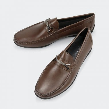 حذاء victor clarke men shoes باللون البني