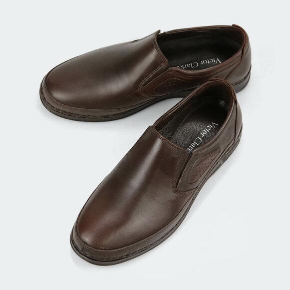 حذاء كلاسيكي طبي فاخر باللون البني