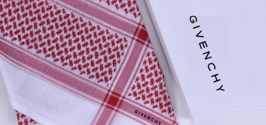 اشمغة جفنشي Shemagh Givenchy بتصميماتها الفريدة من متجر العراب