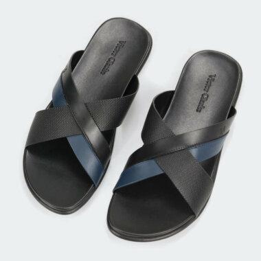 حذاء طبي فاخر بلون أسود من فيكتور كلارك