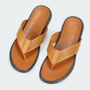 حذاء بنى جلد طبيعى انيق من ماركة فيكتور كلارك المميزة