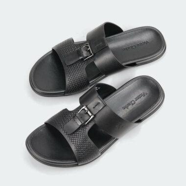 حذاء اسود جلد طبيعى مقوى من براند فيكتور كلارك الاصلية