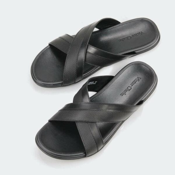 حذاء اسود جلد طبيعى فيكتور كلارك
