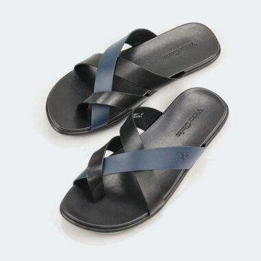 حذاء جلد طبيعى من فيكتور كلارك أسود