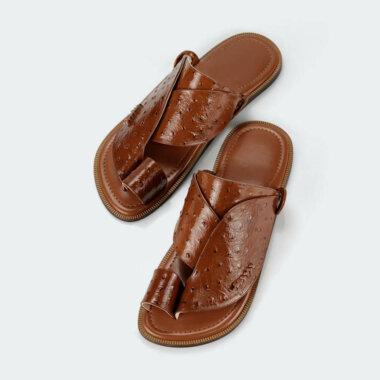 حذاء شرقي جلد طبيعي وطني